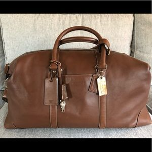 COACH Leather Overnight / Weekend / Duffle Bag